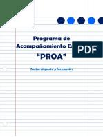 Programa de Acompañamiento Factor Deporte y Formación