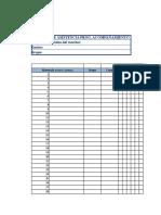 Listado de Alumnos y Control de Asistencia