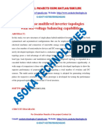 Single-phase multilevel inverter topologies with self-voltage balancing capabilities