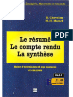 Le Resume Le Compte Rendu La Synthese Compressed