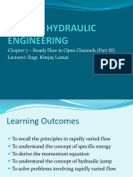 Chapter 7 - Open Channel Hydraulics (Part 3)