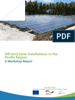 Off Grid Solar Installations in the Pacific Region 22March2017
