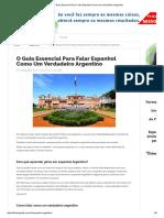 Guia Espanhol de Um Verdadeiro Argentino