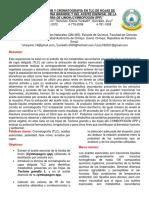 Informe 2. Capa Fina Teca, Aceite Esencial Hierba de Limón