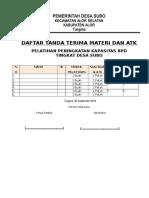 Daftar Tanda Terima Materi Bpd