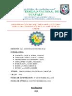 Informe 1 Acides y Ph de Carne