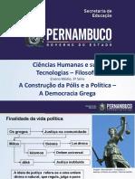 A Construção da Polis e a Política - a Democracia Grega.pptx
