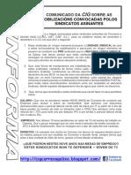 Mobilizacions Cartaz CIG Posicionamento