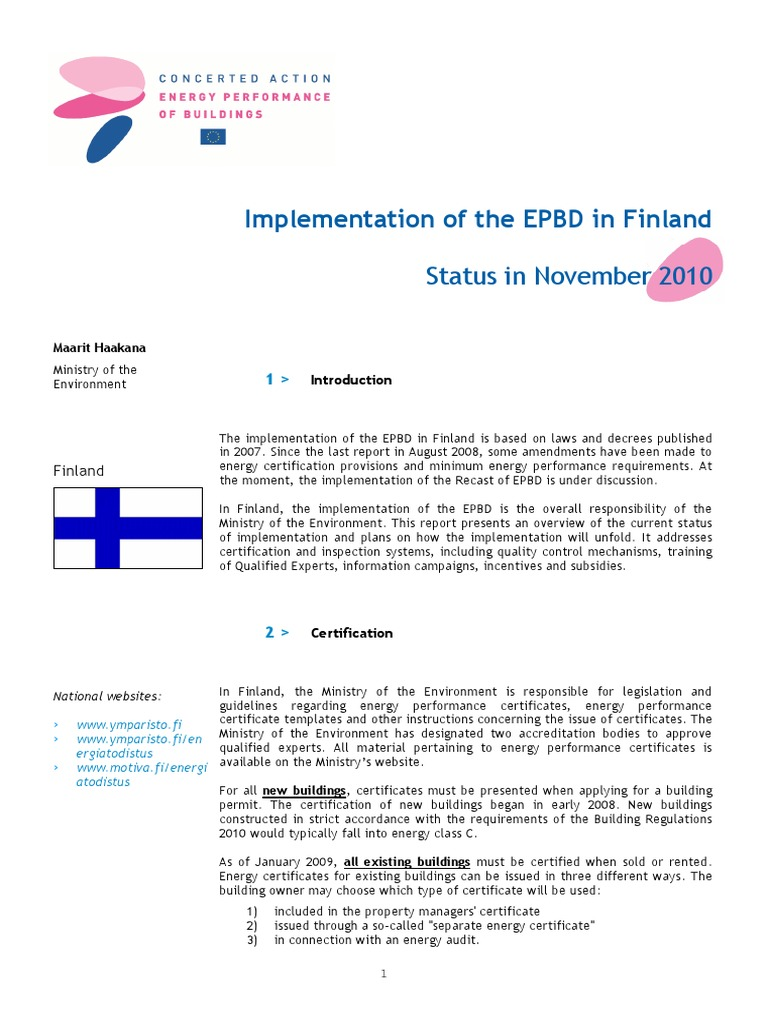 Finland Efficient Energy Use