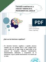 Funciones Cognitivas de La Atención y Memoria PP