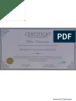 Certificate MJ