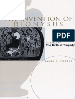 James i Porter the Invention of Dionysus an Essay on the Birth of Tragedy