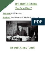 Porfiririo Diaz Biography