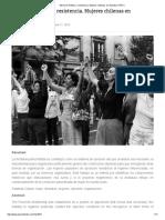 Memoria Política y Resistencia. Mujeres Chilenas en Dictadura 1973