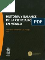 Historia y Balance de La Ciencia Política en México