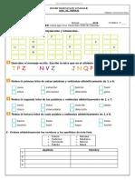 Guía de Trabajo -- Orden Alfabético -- 3°