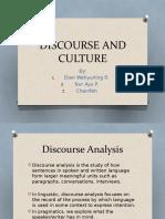 Dircourse and Culture