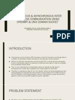 Synchronous & Asynchronous Ipc Using Openmpi and Unix Domain Socket (12 Dec)