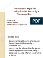 Relationship of Angle Pair Demo Division
