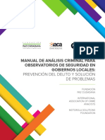 Manual de Analisis Criminal y Observatorios Locales Web