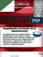 Organización en Funcion de La Administracion