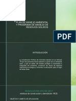 Plan de Manejo Ambiental y Programa de Manejo