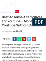 Best Adsense Alternatives for Youtube - Monetize YouTube Without Adsense