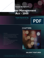 Disaster Management Act - 2005