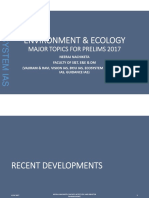 Major topics for prelims UPSC IAS Environment and Ecology