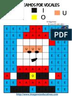 Fichas Navideñas Mejora de La Atención Colorear Por Patrones de Números y Letras PDF (2)