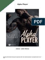 Télécharger Livre Gratuit Alpha Player (PDF - EPub - Mobi) Auteur Julie Huleux