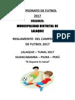 Campeonato de Futbol 2017 Lalaquiz