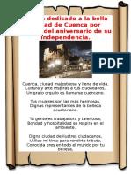 Poema dedicado a la bella ciudad de Cuenca por motivo del aniversario de su Independencia.docx