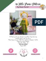 Principito - Eng patron crochet