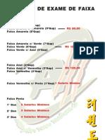 Tabela de Exame de Faixa