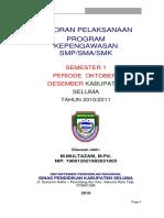 Laporan Pelaksanaan Supervisi Manajerial Terpadu Sma Kota Makassar