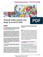 Towards Better Patient Care Drugs to Avoid in 2018