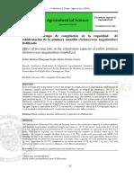 Efecto del tiempo de congelación en la capacidad de rehidratación de la pitahaya amarilla (Selenicereus megalanthus) liofilizada
