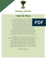 I Ask No More - Sheaves Of Grain - 54