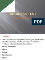 Hardness Test  training