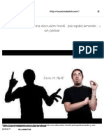 """4 formas de ganar una discusión hostil, """"psicopáticamente""""… y sin pelear - César Landaeta H. Psicólo"""