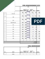 Steel Reinforcement Estimation