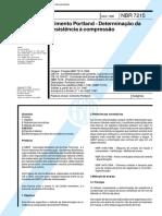 NBR 7215 - Cimento Portland – Determinação Da Resistência à Compressão