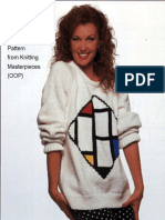 Piet Mondrian Square Composition Knitting Sweater Pattern