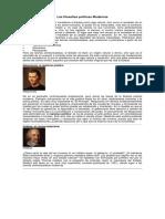 Las Filosofías Políticas Modernas