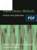 Stated Choice Methods Analysis and Applications