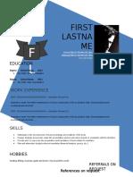 Design Resume Template Doc Format 883