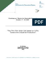 CdTe TF Solar Cells ICTP