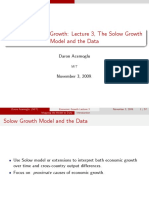 Acemoglu (2009) Presentation the Solow Groth