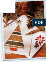 DIY Christmas Card Pattern Recycle Die Cut